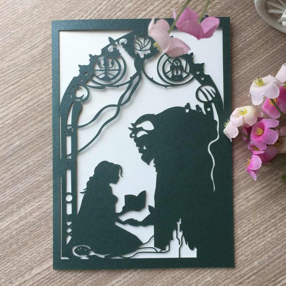 Detail Feedback Questions About 45pcs Laser Cut Beauty And The Beast