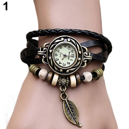 2019 New Women's Watch Retro Leather Bracelet Tree Leaf Decoration Wrist Watch Ladies Quartz Watch Relogio Feminino часы