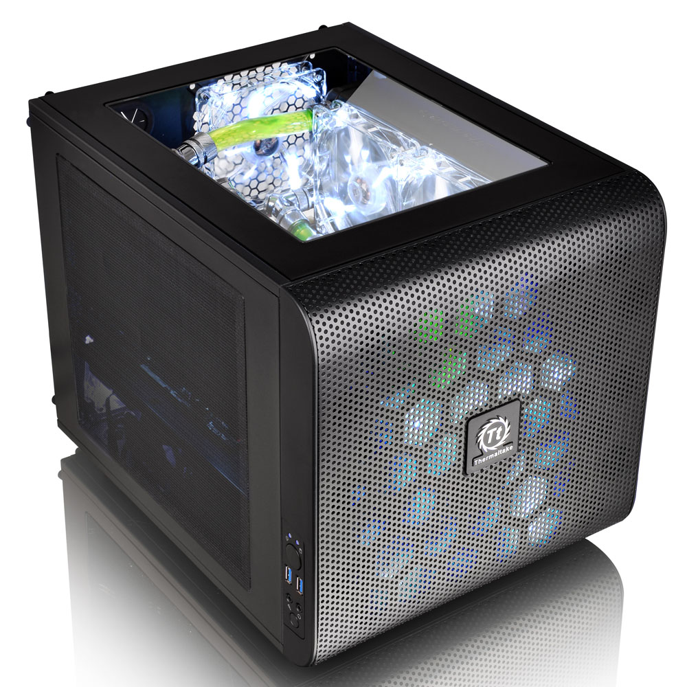 Core V21 exquisite desktop computer chassis U3 water-cooled small chassis mini-game chassis M-ATX