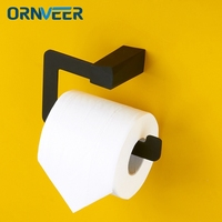 Free Shipping latest model Rubber spray technology Stainless Steel Bathroom Accessories Black Toilet Roll Paper Holder