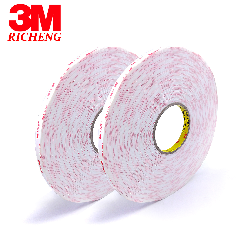 3M brand original 4930 VHB doulbe-sided adhesive acrylic foam tape 20mm*33m*5rolls/we can offer any size and any shape стоимость