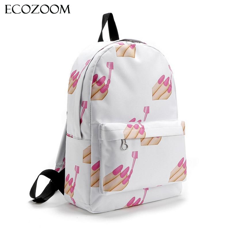 Bags, Nail, Cartoon, Mochila, Bag, Style
