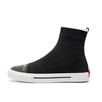 вязаные ботинки | ZawsThia/Повседневная дышащая женская обувь с высоким берцем; Модные женские Сникеры с сеткой; вязаные эластичные носки; женские ботильоны