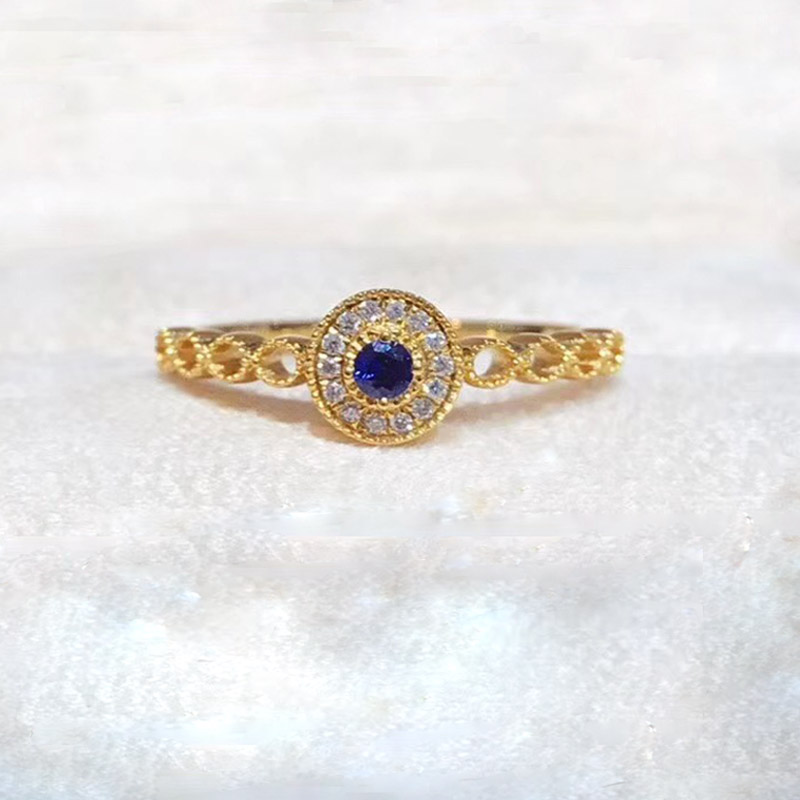 ANI 18K Yellow/White/Rose Gold (AU750) Engagement Women Ring Certified Emerald/Blue Sapphire/Ruby Natural Diamond Halo Ring new pure au750 rose gold love ring lucky cute letter ring 1 13 1 23g hot sale