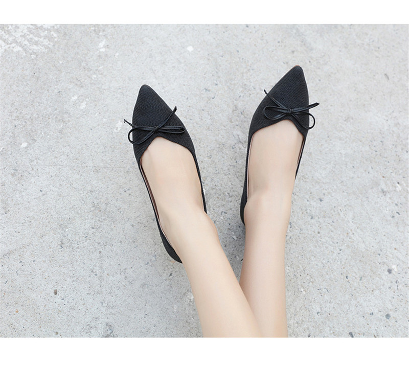 Women Ballerinas Flats Fashion Bowtie Shallow Mouth Slip-on Women Flats Concise Ladies Casual Flat Shoes Ballet Flats For Women (5)