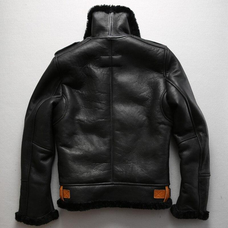 Aliexpress.com : Buy Axirex fly B3 flight jacket real fur coat men ...