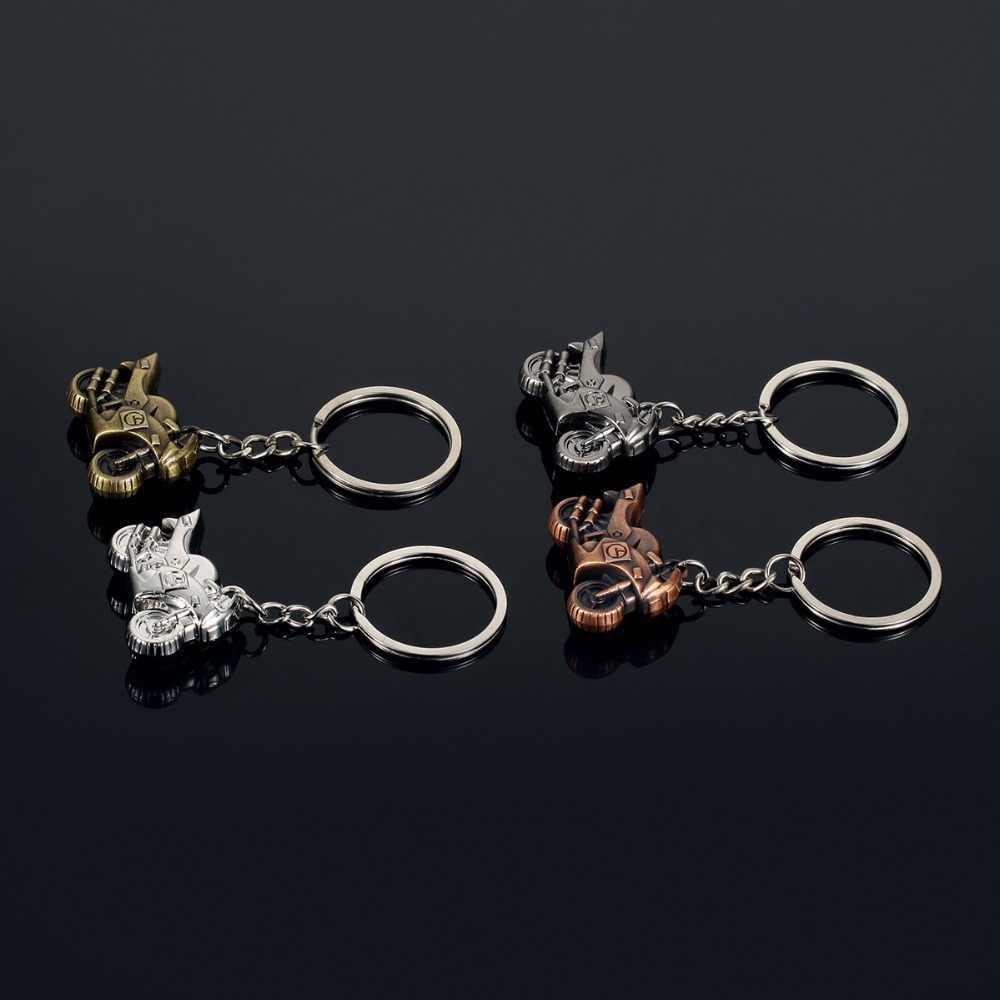 Moda ciężki motocykli Model klucz łańcuchy pierścień mężczyźni samochodów brelok Charms kobiety biżuteria brelok pamiątka Party prezent kobieta ozdoba