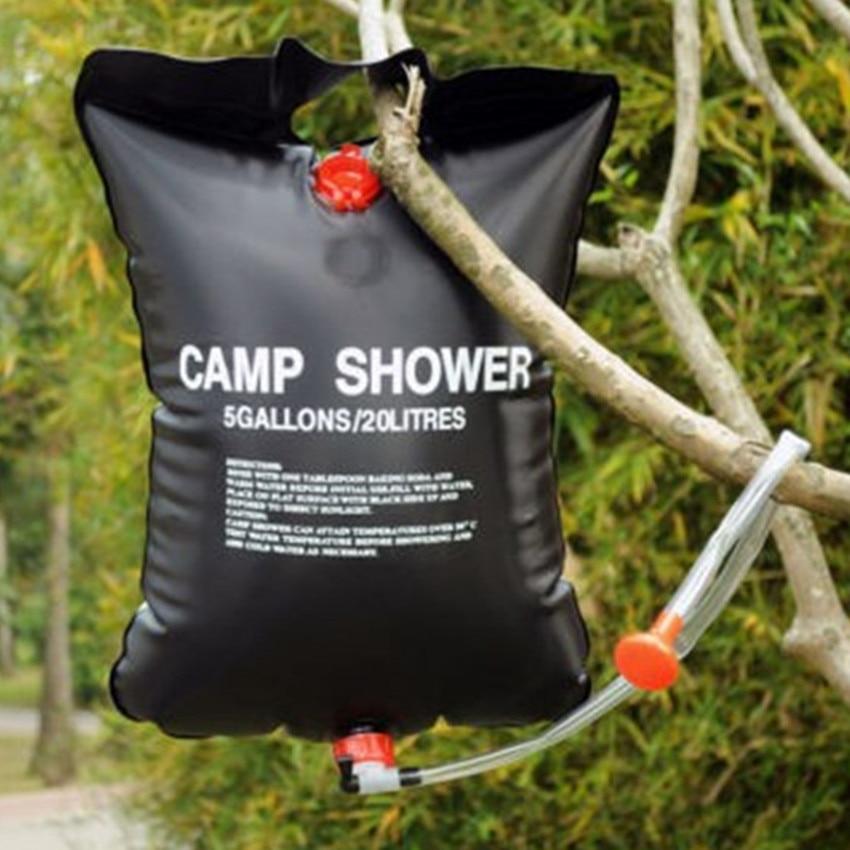 20L vízzsák összecsukható napenergiával fűtött tábor PVC - Kemping és túrázás - Fénykép 4