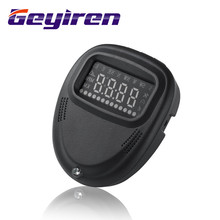 geyiren HUD gps A1 head up display car HUD speedometer projector speed alarm display Kilometers Windshield Projector HUD car gps a8 car hud head up display car speedometer 5 5 inch windscreen projector obd2 code reader speed alarm voltage mph km h display