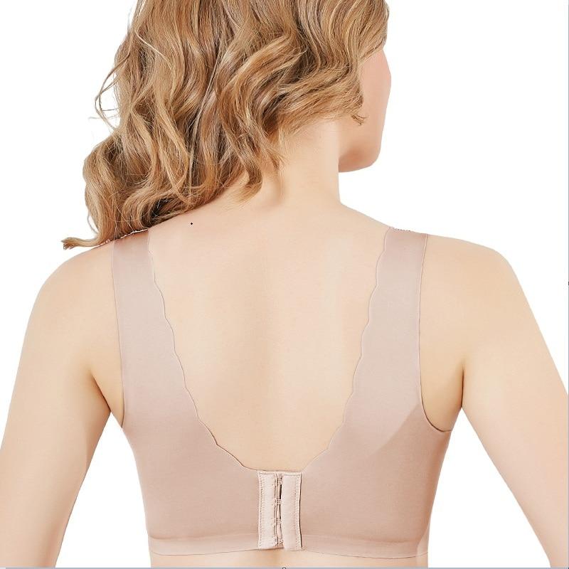 bras for women No mark no steel ring large size bra Side fat mm bra zero restraint comfort underwear soutien gorge push up bra in Bras from Underwear Sleepwears