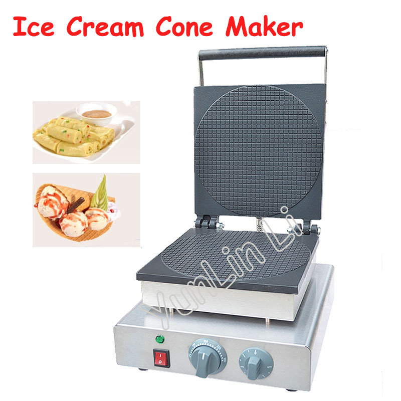 Round Shape Ice Cream Cone Maker Electric Waffle Maker Commercial Cone Making Machine Egg Cone Roll Maker FY-2209A factory price ice cream waffle cone maker round egg roll waffle maker waffle making machine