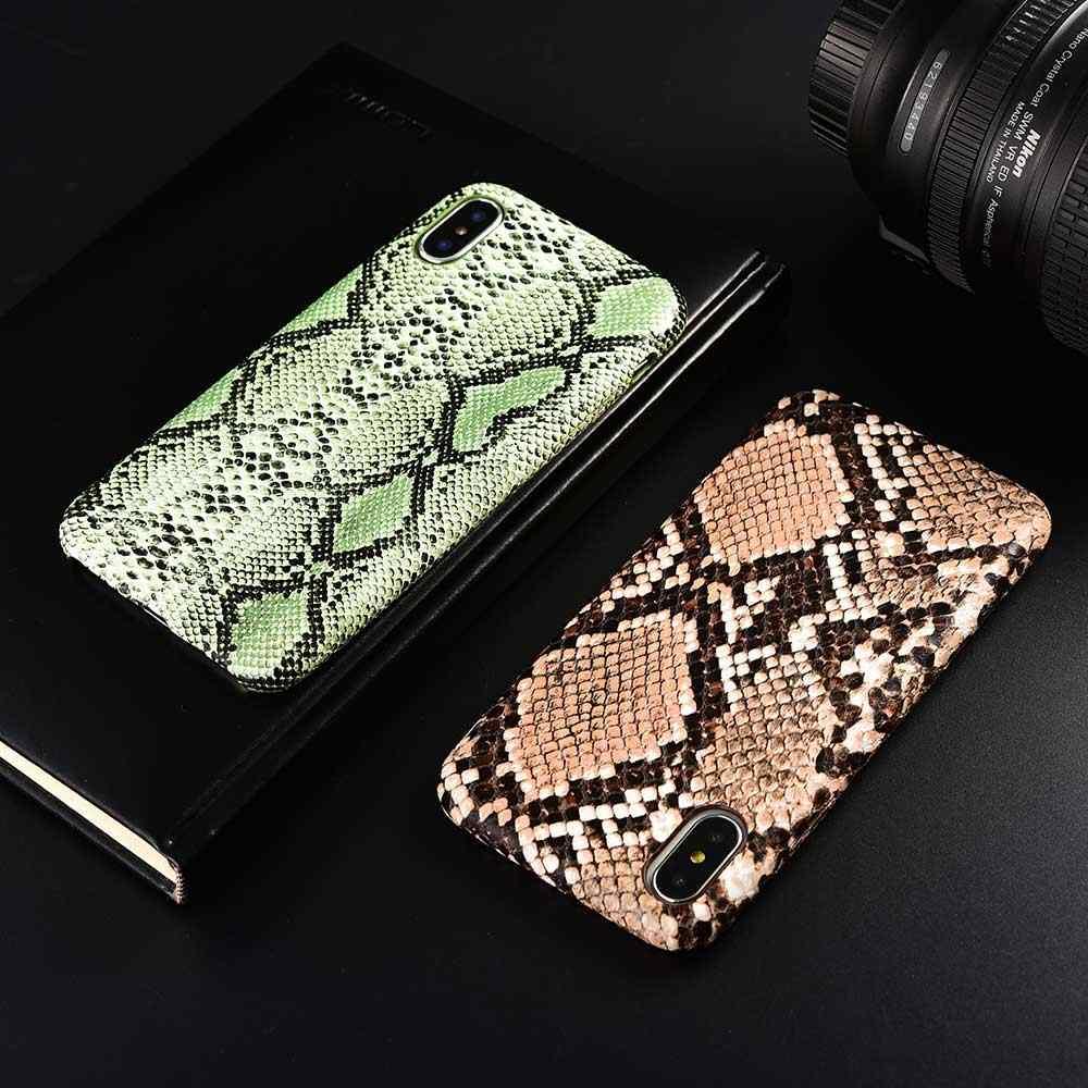 Boucho ل فون XS ماكس XR X 11 برو ماكس الأفعى ليوبارد التمساح الجلد الهاتف خزائن هاتف آيفون 8 7 6 6S زائد بو الجلود غطاء لينة