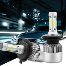 1pcs 3000K H4 LED H7 H11 H8 HB4 H1 H3 HB3 Auto S2 Car Headlight 36W LED Light Car 1.22(China)