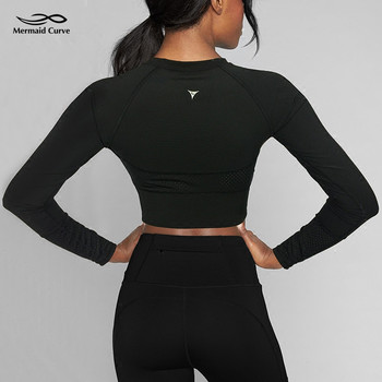 long sleeve Patchwork Compression T shirt
