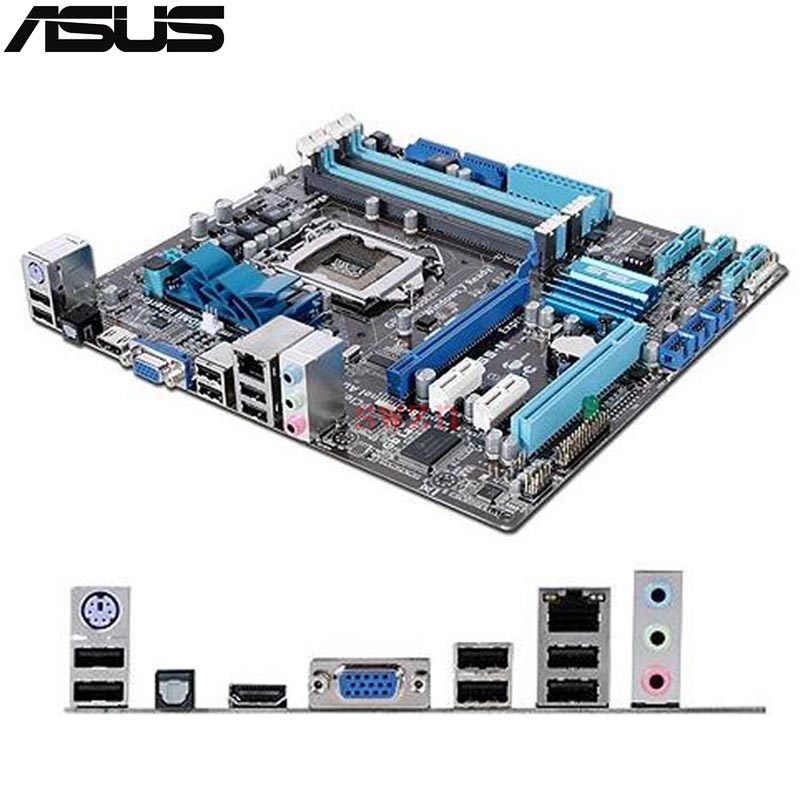original Used Desktop motherboard For ASUS P7H55-M H55 Support LGA1156 I7 I5 I3 Maximum 4*DDR3 16GB 6*SATA II u ATX Main Board asus p7h55d m pro desktop motherboard h55 socket lga 1156 i3 i5 i7 ddr3 16g uatx on sale