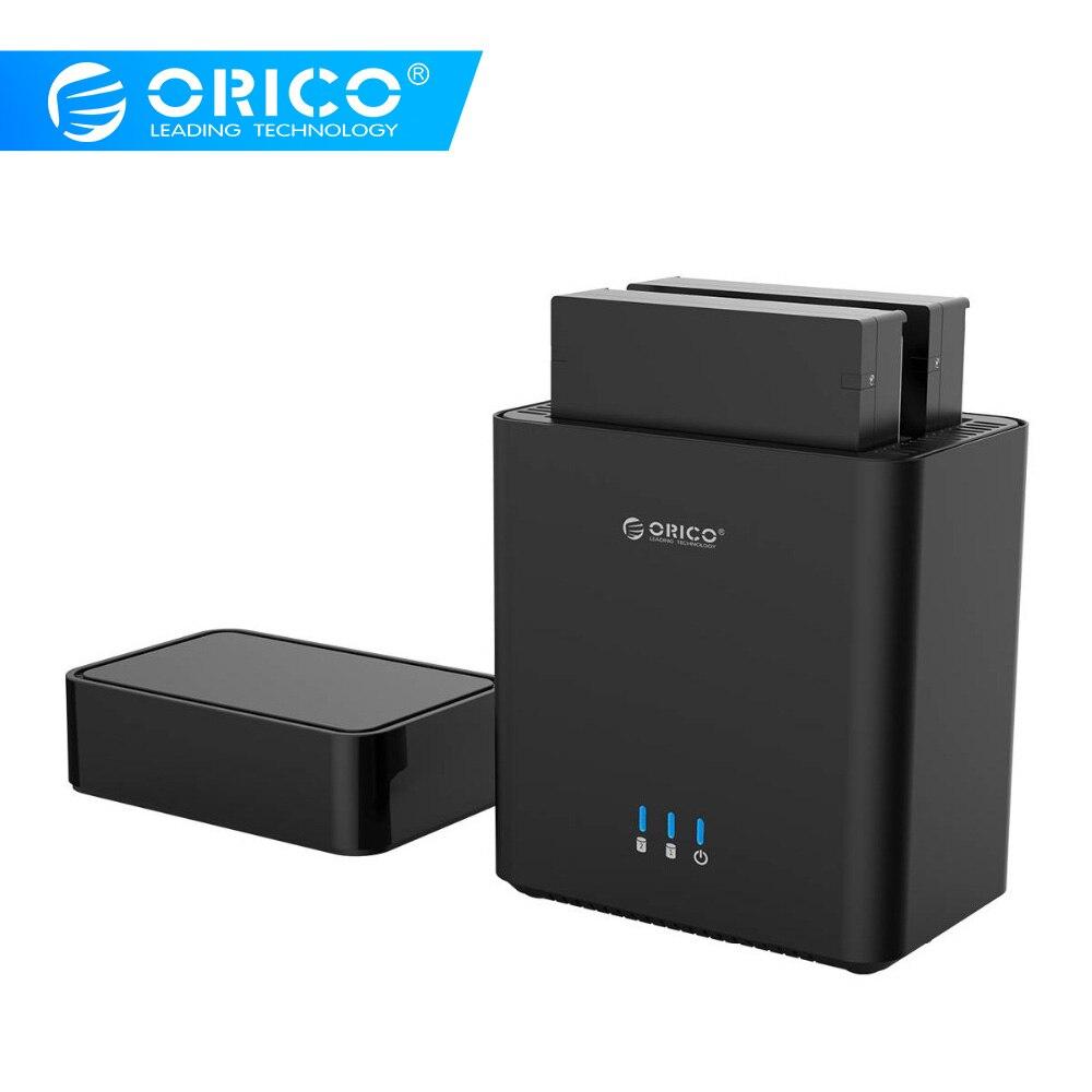 ORICO Dual Bay magnético tipo 3,5 pulgadas USB3.0 carcasa de disco duro 20 TB Max soporte UASP 12V4A fuente de alimentación 5 Gbps HDD