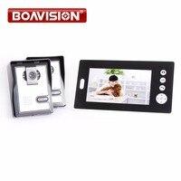 7 дюймовый аудио визуальный Беспроводной телефон видео домофон Системы с 2 камеры двери мониторинга Системы