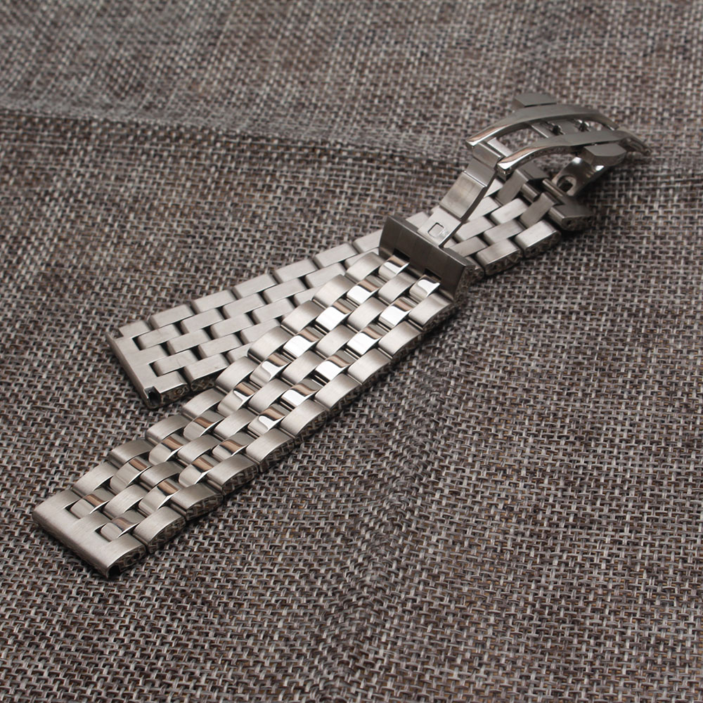 Watchbands Strap for brand watches mens womens 18mm 19mm 20mm 21mm 22mm silver polished and matte