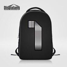 Dispalang Мужчины Повседневная Daypacks Большие Путешествия Ноутбук Сумка Для Подростков 3D Печать Металла Количество Школьные Сумки женские Рюкзак Bolsa