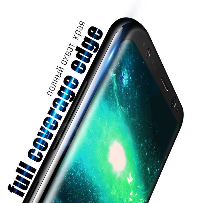 9D полный изогнутое закаленное Высокопрочное Стекло для samsung Galaxy S10 S8 S9 Plus Note 9 S10E Note 8 Экран протектор для samsung A8 A7 2018 пленка