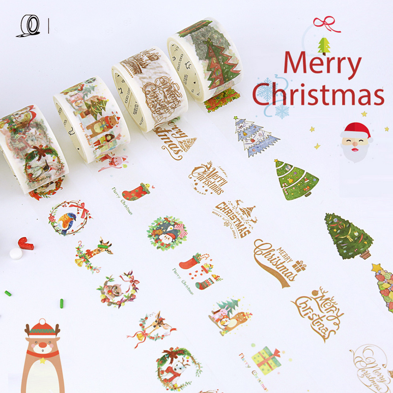 1 5 3cm 7 Merry Christmas Tree Washi Tape Diy Decorative