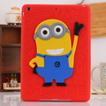 For iPad 5/6 Air 12 Case Silicone 3D Despicable Me Minions Soft Rubber Case Cover For Coque iPad Air 2016 Newest Drop Resistance