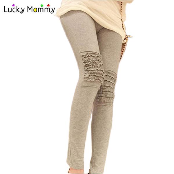 De madeira de algodão calças calças de maternidade Leggings para grávidas roupas gravidez