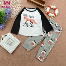 a35e80231 MUQGEW conjunto de ropa traje animal recién nacido bebé Niños Niñas Ropa  conjunto Impresión de manga larga Tops + Pantalones tra.