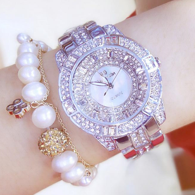 Luxury Women Rhinestone Watches Lady Crystal Dress Watch Stainless Steel Silver Bracelet Wristwatch Ladies Square diamond Watch new arrival bs brand full diamond luxury bracelet watch women luxury round diamond steel watch lady rhinestone bangle bracelet