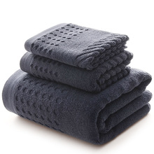 Super Absorbent Men Towel Set 100% Cotton Large Bath and Small Face Hand for Adults Soft Towels Bathroom