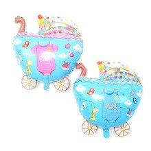 50pcs Baby gift toys foil ballon shaped ballooon carriage for boy/girl baby shower decoration stroller heium globos
