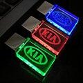 New Crystal Car Logo for KIA USB Flash Drive 64GB/8GB/16GB/32GB USB 2.0 Flash Memory Drive Stick Pen/Thumb/Car,3Color LED Light