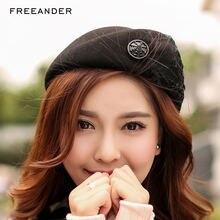 Freeander берет шапки для женщин милые из натурального меха