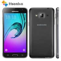 100% Original desbloqueado Samsung Galaxy J3 J320F teléfono celular Ouad Core Dual Sim 2 GB RAM 5,0 pulgadas de pantalla táctil envío Gratis