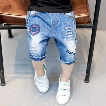 Baby boys shorts summer 2018 children denim short pants kids brand trousers boys clothes toddler baby clothing for 4 to 14 years Boys Jeans