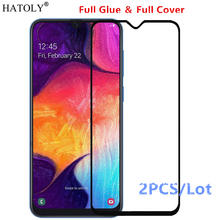 2Pcs For Samsung Galaxy A30 Glass Tempered for Film Full Glue Screen Protector
