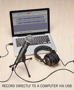 Image 2 - ميكروفون سامسون Q2u ديناميكي محمول باليد 100% مع منفذ سماعات XLR ميكروفون لراديو البودكاست وأشرطة فيديو يوتيوب