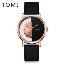Томи Для мужчин s часы лучший бренд класса люкс Для мужчин Бизнес Спорт кожаный ремешок часы кварцевые наручные часы платье Винтаж Стиль Relogio T017