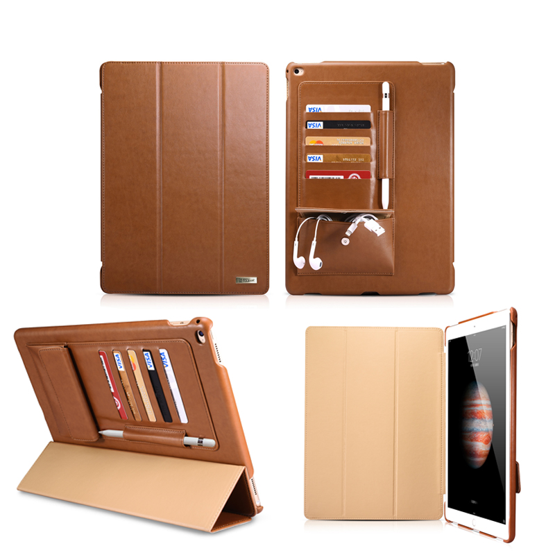 New Fashion Business Case for ipad pro 12.9 PU leather Flip Tablet Smart Case cover for Apple iPad pro 12.9 protective stand for apple ipad pro 12 9 2017 case fashion retro pu leather cases for ipad pro new 12 9 2017 tablet smart cover case pen