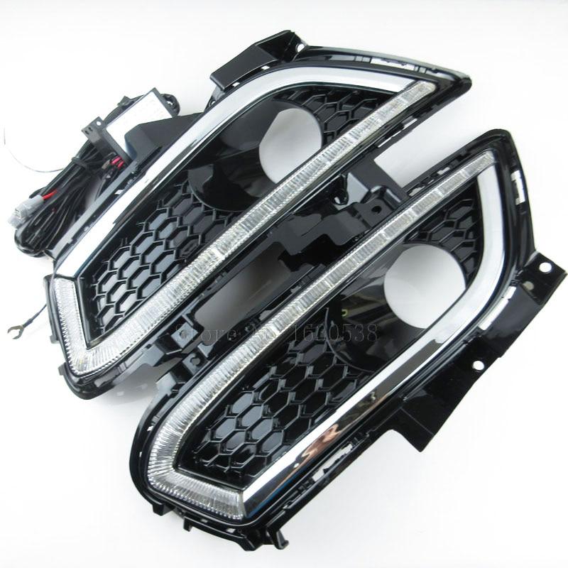 Daytime Running Lights accessories 12V car LED light DRL fog lamp for Ford Mondeo 2013 2014 2015 revo fog lamp waterproof led car drl daytime running lights accessories for toyota hilux vigo champ 2015 2016 year