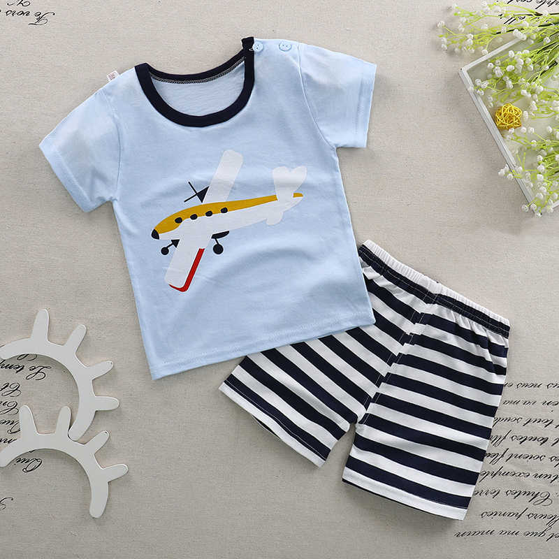 17a2b17df3a50 Summer Baby Boys Girls Clothes Suits 2018 New Cartoon Boys Clothes T-shirts  Shorts Children Clothing Set Cotton Kids Outfits