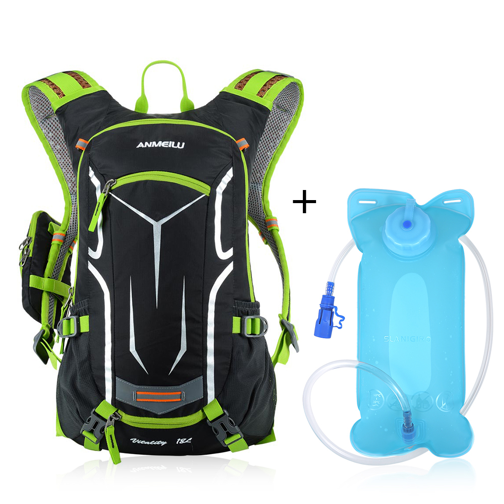 Lixada 2L SGS Camping Bags Hiking Water Bag Drink Pouch 18L Cycling Bicycle Bike Shoulder Backpack