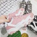 Женщины высокое качество спорт и открытый обувь Мухерес zapatillas де deporte corriendo леди милый розовый тренеры женские прохладно обувь