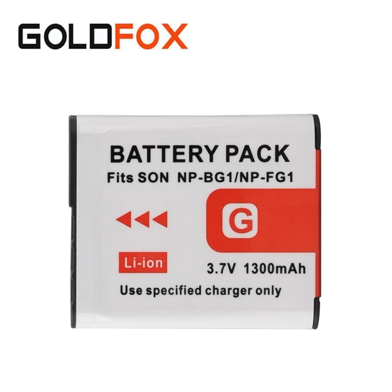 For Sony Camera NP-BG1 3.7V 1300mah Digital Battery for Sony NP-BG1 NP-FG1 DSC-H3 Camera Replacement Li-ion Batteria Pack replacement 3 7v 500mah battery pack for sony dsc t7