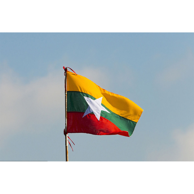US $9 99 |The hot sales of the Myanmar (MM) Flag Polyester Flag 5*3 FT All  color Logos-in Flags, Banners & Accessories from Home & Garden on