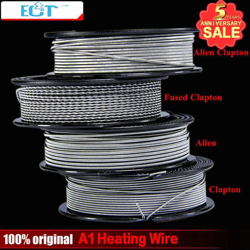 15 feet/roll A1 Heating Wire for RDA RBA Rebuildable Atomizer Heating Wires Coil Alien Fused Clapton Heating Wire DIY Vaporizer