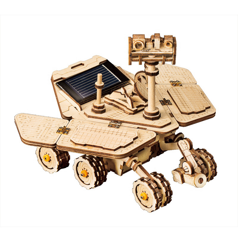 Robotime movible Espíritu Rover energía Solar juguete 3D DIY láser de corte de madera modelo de construcción de regalo para niños adultos LS503