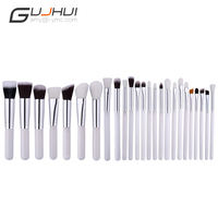 25 Pcs Professional Makeup Brushes Set Make Up Brush Tools Kit Foundation Powder Blushes White And