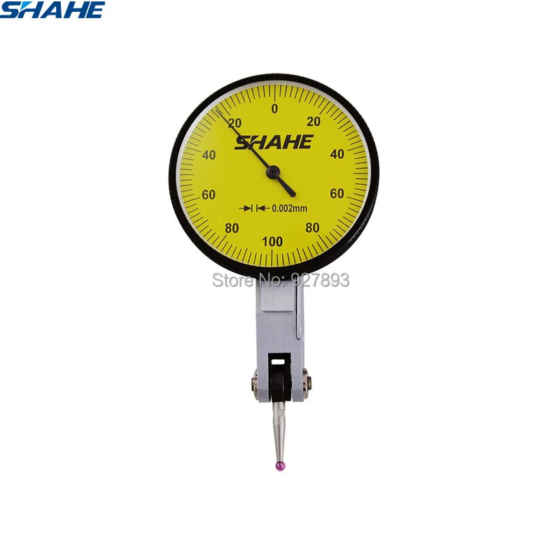 shahe tools 0-0 2 mm 0 002 mm dial test indicator with red jewel dial gauge indicator tool measurement instruments