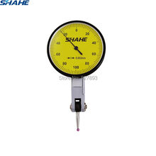 Shahe ferramentas 0-0.2mm 0.002mm indicador de teste de discagem com jóia vermelha dial calibre indicador ferramenta instrumentos de medição
